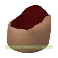 Кресло-мешок Браво Б1.3-F08F06 (бордовый - бежевый)