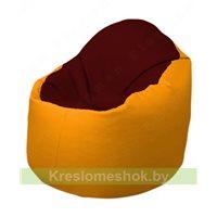 Кресло-мешок Браво Б1.3-F08F06 (бордовый - жёлтый)