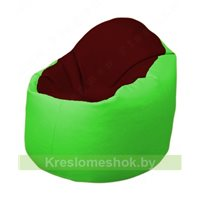 Кресло-мешок Браво Б1.3-F08F07 (бордовый - салатовый)