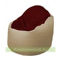 Кресло-мешок Браво Б1.3-F08F13 (бордовый - бежевый)