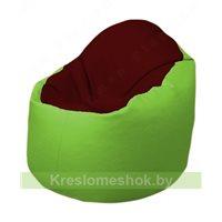 Кресло-мешок Браво Б1.3-F08F19 (бордовый - салатовый)