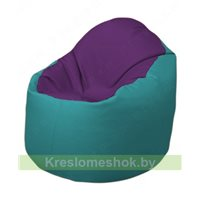 Кресло-мешок Браво Б1.3-N32N41 (фиолетовый - бирюзовый)