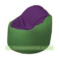 Кресло-мешок Браво Б1.3-N32N76 (фиолетовый - зелёный)