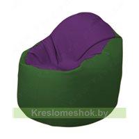 Кресло-мешок Браво Б1.3-N32N77 (фиолетовый, тёмно-зелёный)