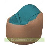 Кресло-мешок Браво Б1.3-N41N06 (бирюзовый - бежевый)