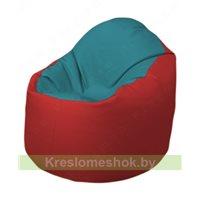 Кресло-мешок Браво Б1.3-N41N09 (бирюзовый - красный)