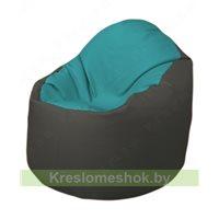 Кресло-мешок Браво Б1.3-N41N17 (бирюзовый, тёмно-серый)