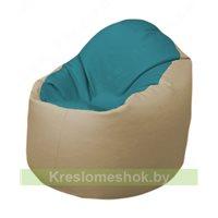 Кресло-мешок Браво Б1.3-N41N19 (бирюзовый - бежевый)