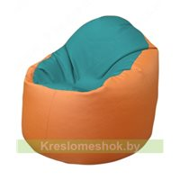 Кресло-мешок Браво Б1.3-N41N20 (бирюзовый - оранжевый)