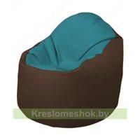 Кресло-мешок Браво Б1.3-N41N26 (бирюзовый - коричневый)