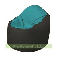 Кресло-мешок Браво Б1.3-N41N38 (бирюзовый - чёрный)
