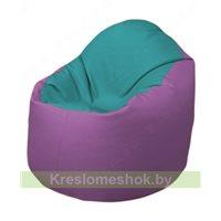 Кресло-мешок Браво Б1.3-N41N67 (бирюзовый - сиреневый)