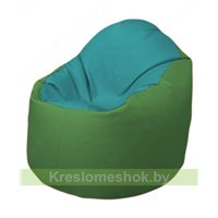 Кресло-мешок Браво Б1.3-N41N76 (бирюзовый - зелёный)