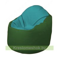 Кресло-мешок Браво Б1.3-N41N77 (бирюзовый, тёмно-зелёный)