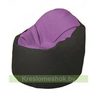 Кресло-мешок Браво Б1.3-N67N38 (сиреневый - чёрный)