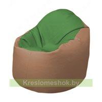 Кресло-мешок Браво Б1.3-N76N06 (зеленый - бежевый)