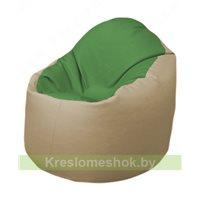 Кресло-мешок Браво Б1.3-N76N13 (зеленый - бежевый)