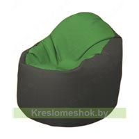 Кресло-мешок Браво Б1.3-N76N17 (зеленый, тёмно-серый)