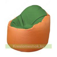 Кресло-мешок Браво Б1.3-N76N20 (зеленый - оранжевый)