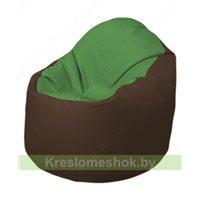 Кресло-мешок Браво Б1.3-N76N26 (зеленый - коричневый)