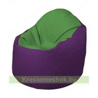 Кресло-мешок Браво Б1.3-N76N32 (зеленый - фиолетовый)