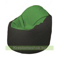 Кресло-мешок Браво Б1.3-N76N38 (зеленый - чёрный)