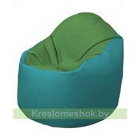 Кресло-мешок Браво Б1.3-N76N41 (зеленый - бирюзовый)