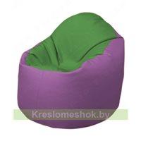 Кресло-мешок Браво Б1.3-N76N67 (зеленый - сиреневый)