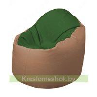 Кресло-мешок Браво Б1.3-N77N06 (темно-зеленый, бежевый)