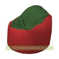 Кресло-мешок Браво Б1.3-N77N09 (темно-зеленый, красный)