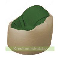 Кресло-мешок Браво Б1.3-N77N13 (темно-зеленый, бежевый)