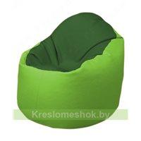 Кресло-мешок Браво Б1.3-N77N19 (темно-зеленый, салатовый)