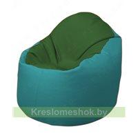 Кресло-мешок Браво Б1.3-N77N41 (темно-зеленый, бирюзовый)