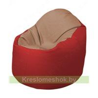 Кресло-мешок Браво Б1.3-T06Т09 (бежевый - красный)
