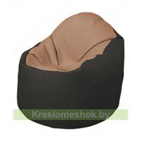 Кресло-мешок Браво Б1.3-T06Т38 (бежевый - чёрный)
