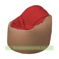 Кресло-мешок Браво Б1.3-T09Т06 (красный - бежевый)