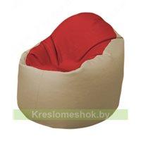 Кресло-мешок Браво Б1.3-T09Т13 (красный - бежевый)