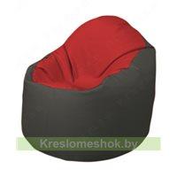 Кресло-мешок Браво Б1.3-T09Т17 (красный, тёмно-серый)