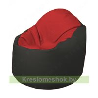 Кресло-мешок Браво Б1.3-T09Т38 (красный - чёрный)