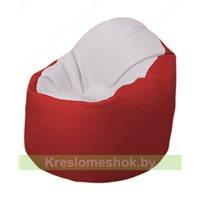 Кресло-мешок Браво Б1.3-T10Т09 (белый - красный)