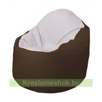 Кресло-мешок Браво Б1.3-T10Т26 (белый - коричневый)
