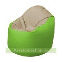 Кресло-мешок Браво Б1.3-T13Т19 (бежевый - салатовый)