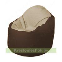 Кресло-мешок Браво Б1.3-T13Т26 (бежевый - коричневый)