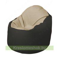 Кресло-мешок Браво Б1.3-T13Т38 (бежевый - чёрный)
