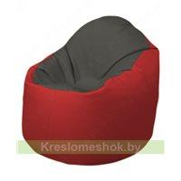Кресло-мешок Браво Б1.3-T17Т09 (темно-серый, красный)