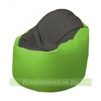 Кресло-мешок Браво Б1.3-T17Т19 (темно-серый, салатовый)