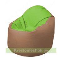 Кресло-мешок Браво Б1.3-T19Т06 (салатовый-бежевый)
