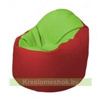 Кресло-мешок Браво Б1.3-T19Т09 (салатовый-красный)