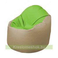 Кресло-мешок Браво Б1.3-T19Т13 (салатовый-бежевый)