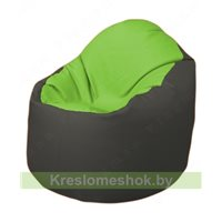 Кресло-мешок Браво Б1.3-T19Т17 (салатовый, тёмно-серый)